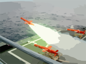 Target Drone Launches From Dd 975 Clip Art