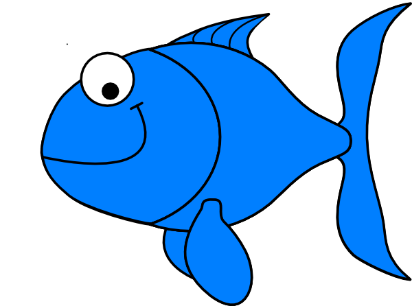 Light Blue Fish Clip Art At Clker Com Vector Clip Art
