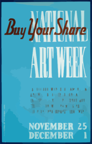 National Art Week Buy Your Share / Designed & Made By Iowa Art Program, W.p.a. Clip Art