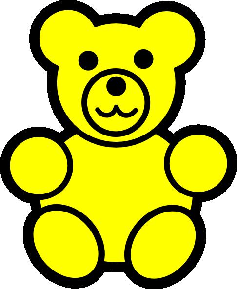 yellow bear clip art at clker com vector clip art online gummy bear clip art printable gummy bear clip art birthday