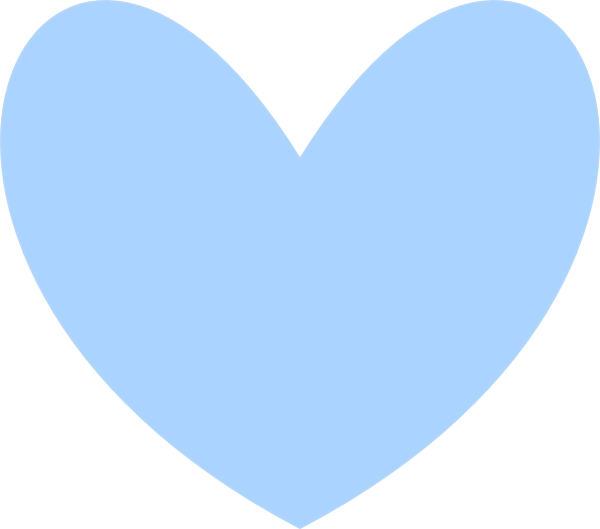 Solid Blue Heart Clip Art at Clker.com - vector clip art ...