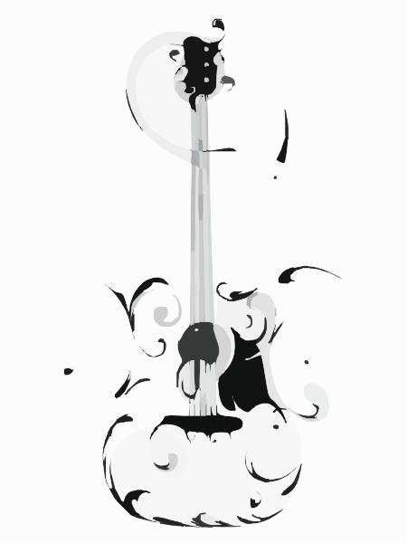 Swirly Guitar multi Clip Art at Clker com vector clip