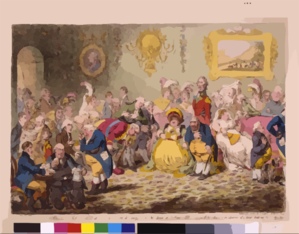 L Assemblée Nationale: - Or - Grand Co-operation Meeting At St. Ann S Hill. Respectfully Dedicated To The Admirers Of  A Broad-bottom D Administration   / Js. Gillray, Invt. & Fect. Clip Art
