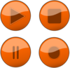Orange Glossy Buttons Clip Art