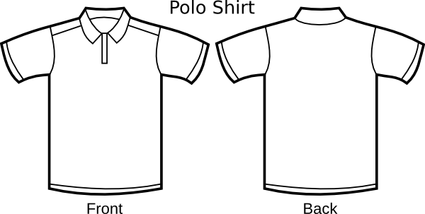 polo template clip art at clker com