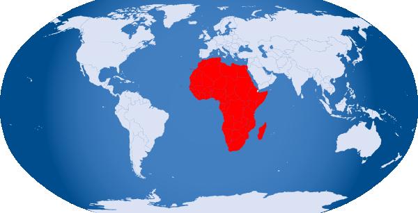 World Globe Highlight Africa Clip Art at Clker.com ...