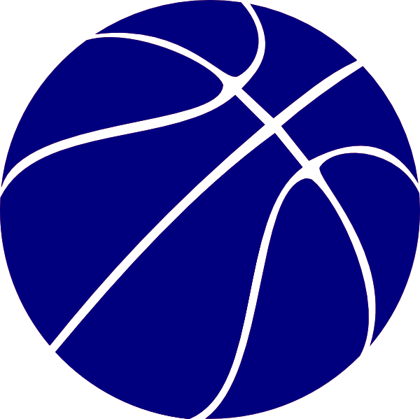 Blue Basketball Clip Art At Clker Com Vector Clip Art