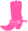 Pink Cowgirl Boot Clip Art