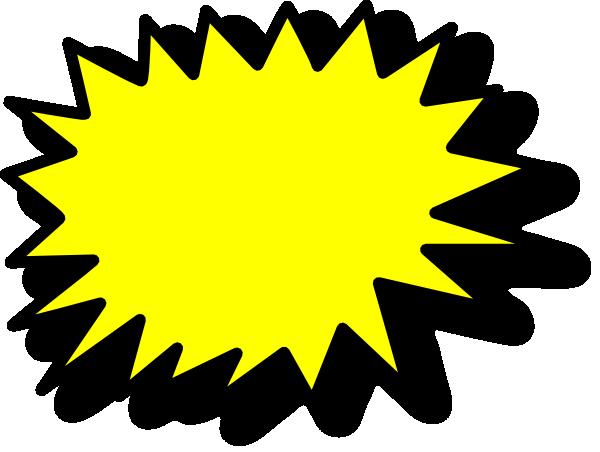 Comic Callout Yellow Clip Art At Clker Com Vector Clip