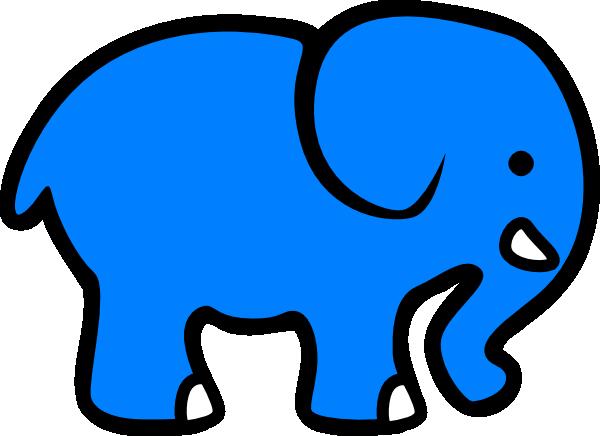blue elephant clip art at clker com vector clip art Nose Outline Clip Art Eye Template