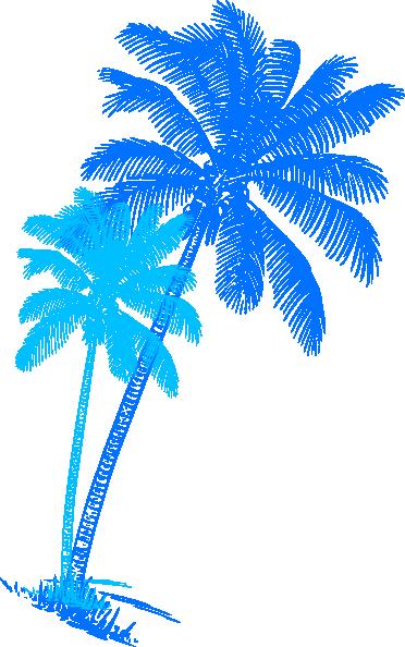 blue palm tree pair clip art at clker com