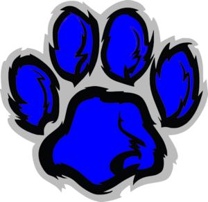 Blue Tiger Paw Clip Art at Clker.com - vector clip art online ...