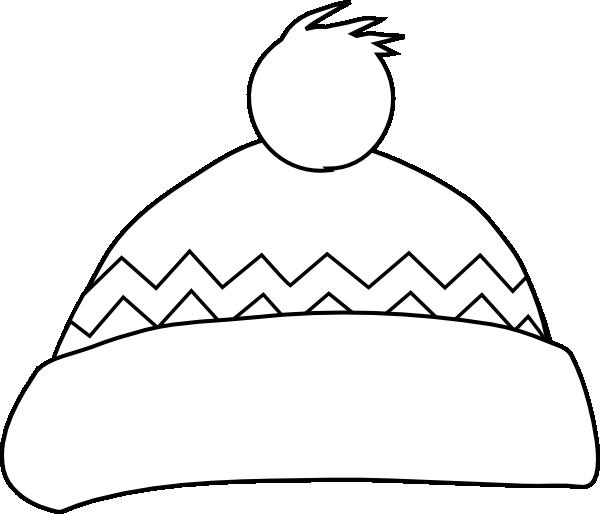 Winter hat outline clip art at clker vector