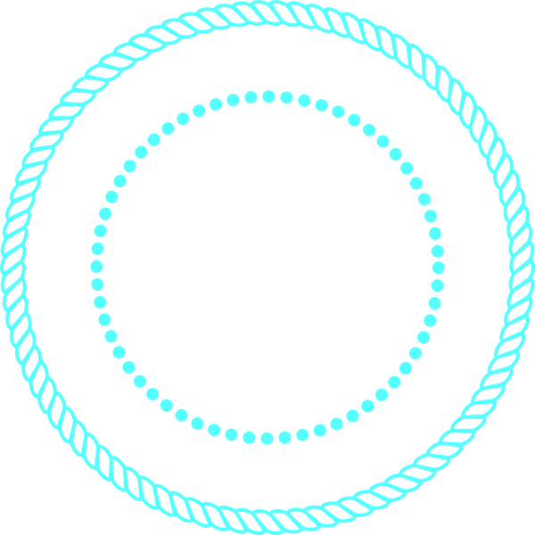 Blue Rope Circle Frame Clip Art At Clker Com Vector Clip