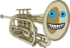 Animated Smiling Trumpet Clip Art