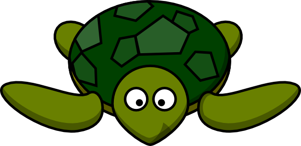 Cute Green Turtle Clip Art at Clker.com - vector clip art ...