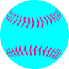 Aqua Softball Clip Art