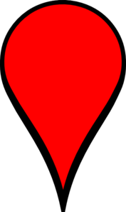 Red Pin W/out Dot Clip Art