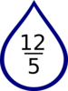 Number Rain Drop Clip Art