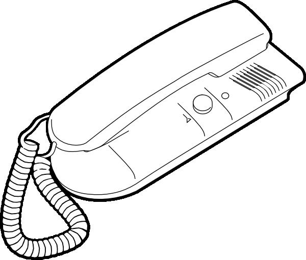 outline telephone clip art at clker com