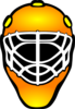 Orange Hockey Goalie Mask Clip Art