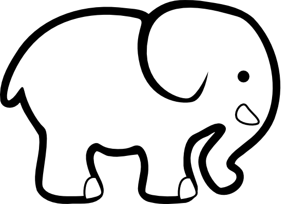 white elephant clip art clip art at clker com vector free monkey clipart black and white free monkey clip art for kids