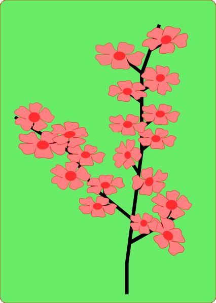 sakura flower clip art at clker     vector clip art