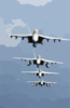 During Flight Operations F/a-18f Super Hornets Fly Over The Western Pacific Ocean In A Tight Formation. Clip Art