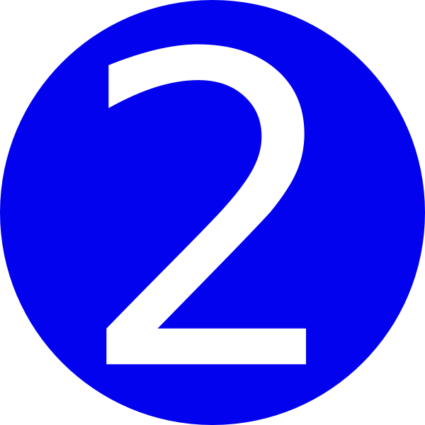 Blue  Rounded With Number 2 Clip Art At Clker Com