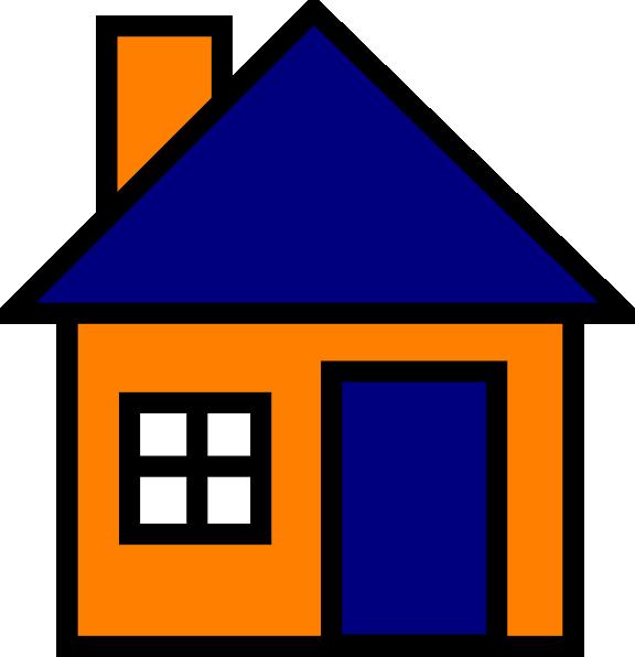 Orange And Blue House Clip Art at Clker.com - vector clip ...