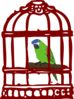 Parrot In A Bird Cage Clip Art