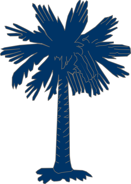 south carolina flag palmetto with no moon clip art at clker