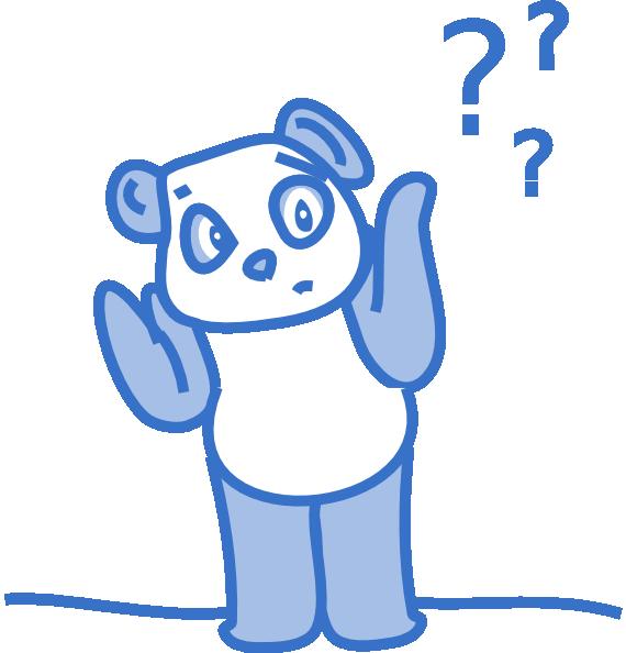 Confused Panda Clip Art at Clker.com - vector clip art ...