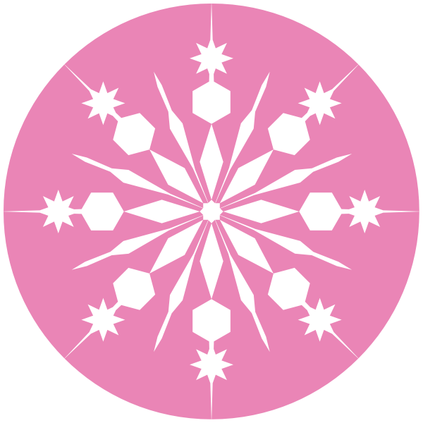 white snowflake with pink background clip art at clker com math clip art free math clip art for kids