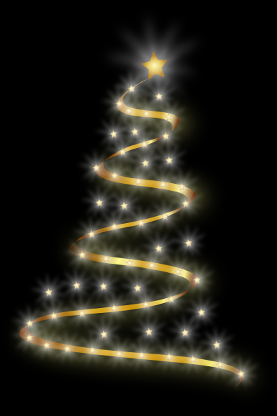 Modern Christmas Tree With Lights Clip Art at Clkercom