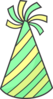 Striped Party Hat Clip Art