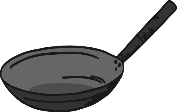 Cartoon Drawing Frying Pan