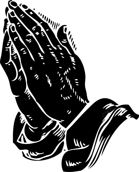 Clipart Praying Hands Black on Math Clip Art Black And White