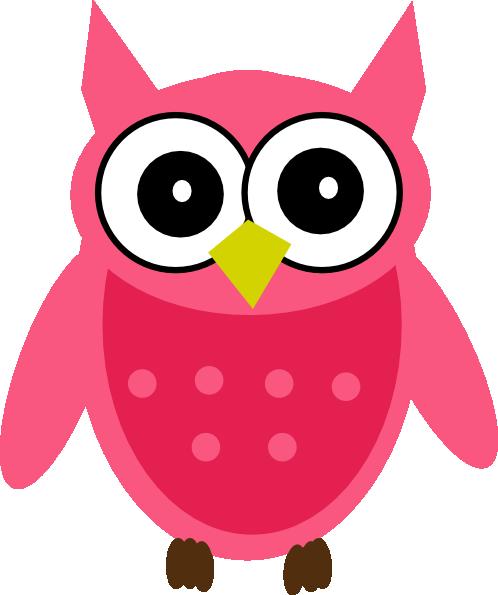 Owl pink. Clip art at clker