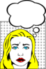 Woman With Speech Bubble Clip Art