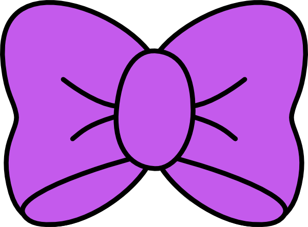 Clipart Purple Bow 5 on Printable Shape Coloring Pages