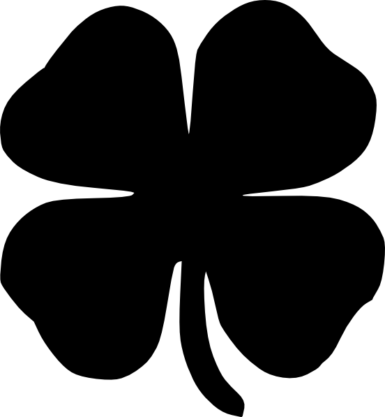four leaf clover black clip art at clker com vector clip 4-H Clover Printable 4-H Clip Art Black and White