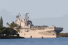 The Amphibious Assault Ship Uss Peleliu (lha 5) Transits The Channel Into Pearl Harbor For A Short Port Visit Clip Art