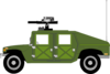 Humvee Coloured Clip Art
