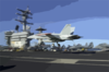 An F/a-18c Prepares To Land On The Flight Deck Aboard Uss Nimitz (cvn 68) Clip Art