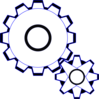Simple Gears Clip Art