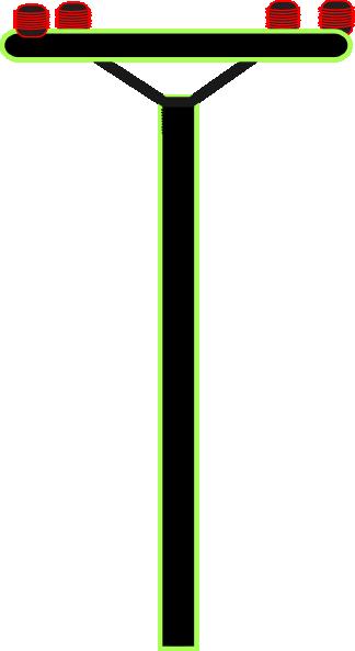Telephone Pole Clip Art Clker Vector