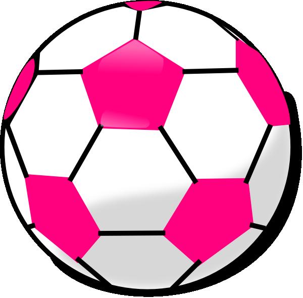 soccer ball with hot pink hexagons clip art at clkercom