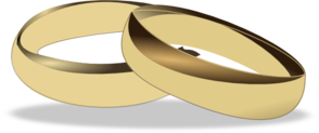 Wedding Rings 3 Clip Art