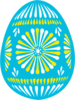 Easter Egg Blue Clip Art
